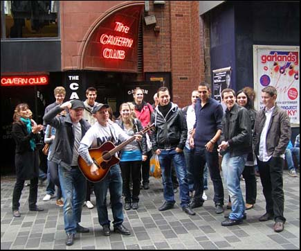 group outside the cavern club